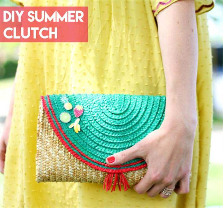 Supplies needed to make your own DIY clutch bag: