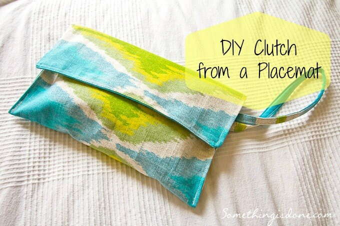 DIY Clutch from a Placemat