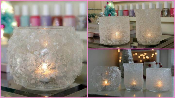 DIY Winter Room Decor - Winter Votives