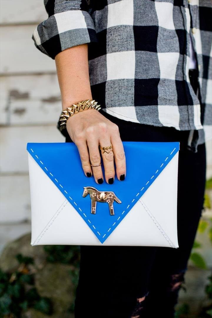 Colorblocked Envelope Clutch DIY