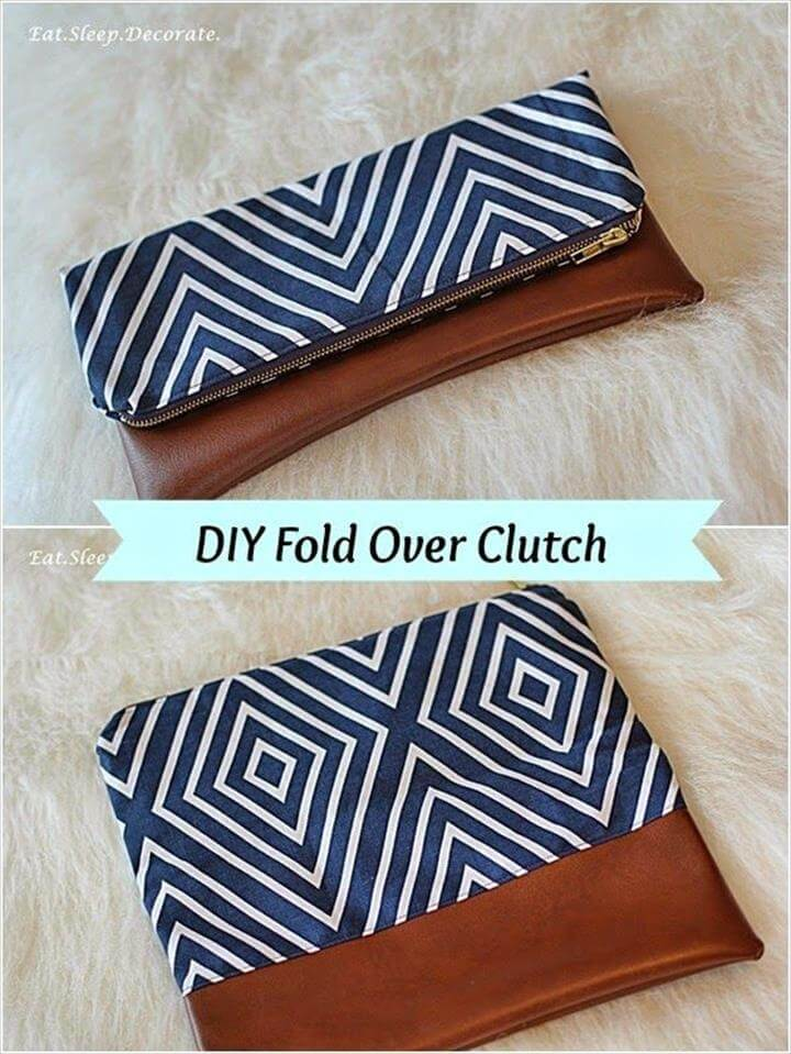{DIY} Fold Over Clutch