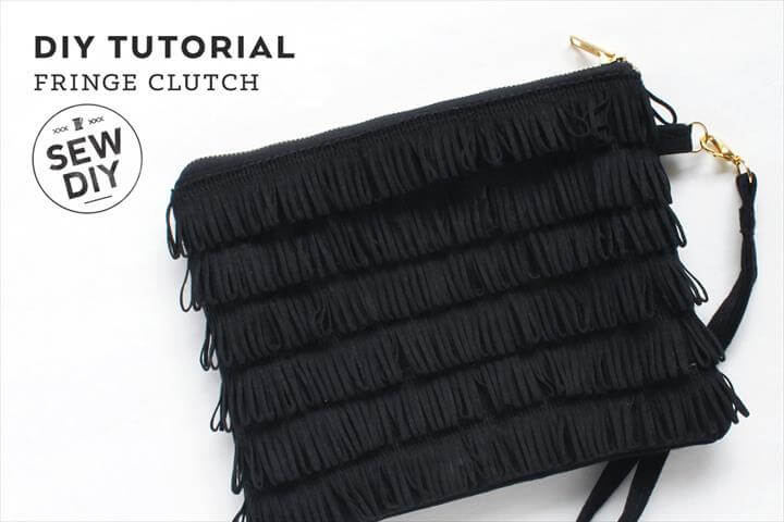 DIY Fringe Clutch Tutorial