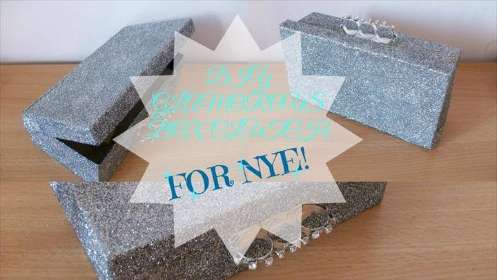 DIY: Glamorous box clutch for NYE!- How to last minute chic box clutch