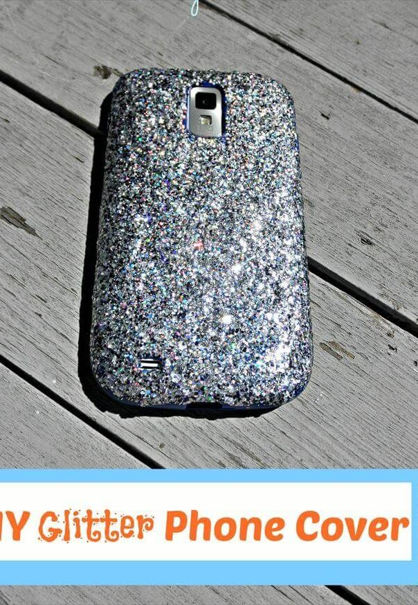 DIY Glitter Phone Cover