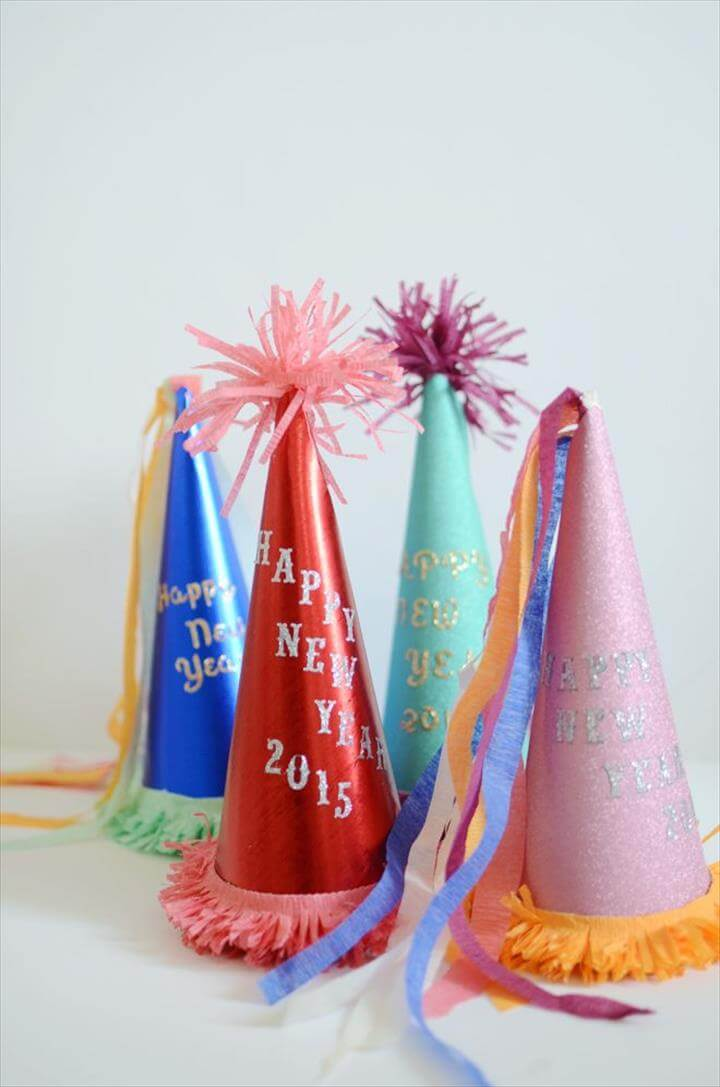 diy: new year's eve party hats