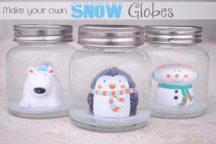 DIY Snow Globes for Kids