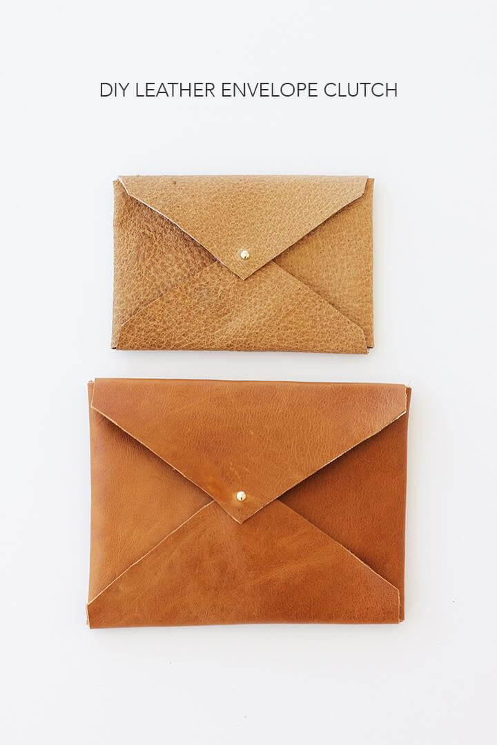 DIY Leather Envelope Clutch |