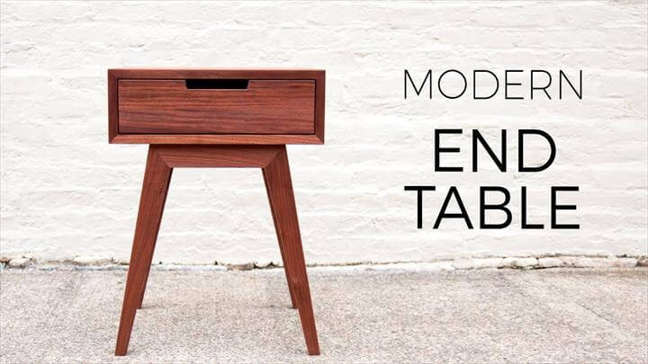 Modern End Table, Side Table, DIY Woodworking Projects
