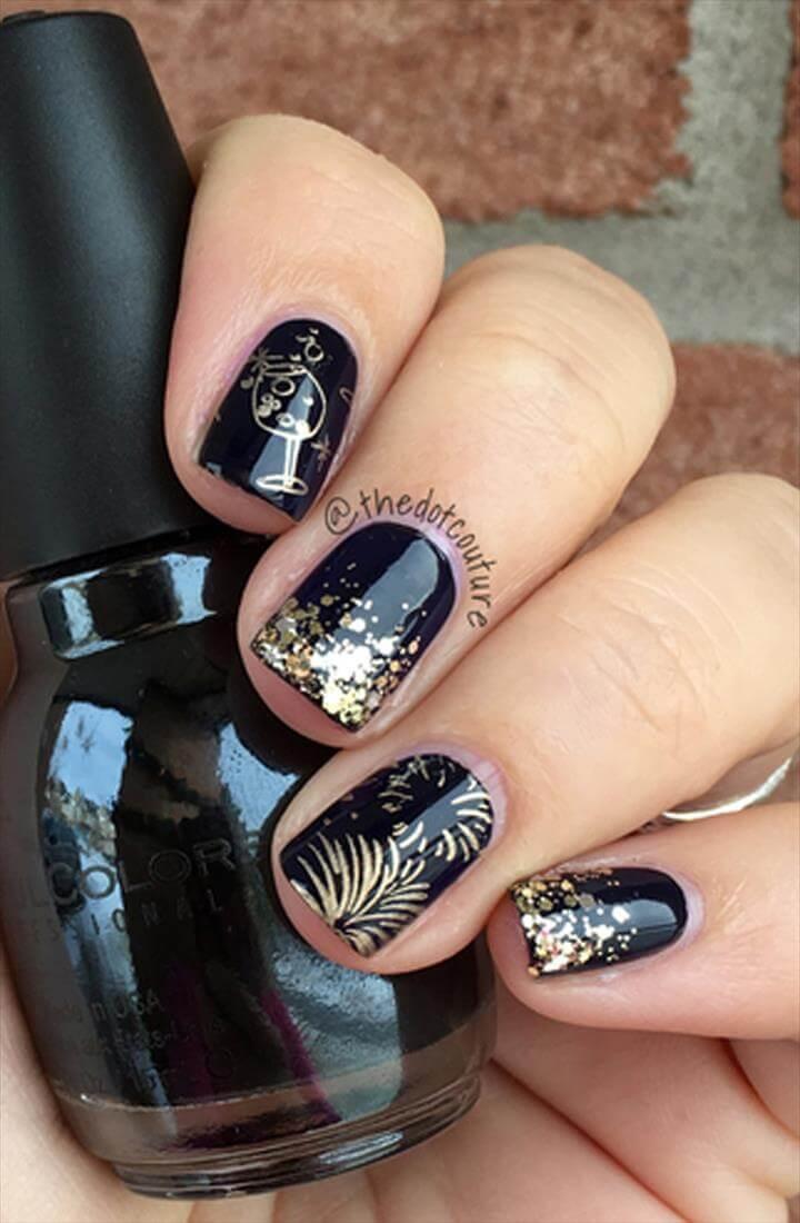 Nail Art. New Year's