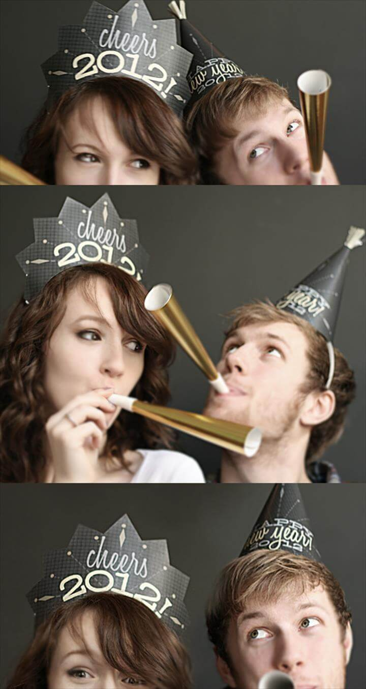 New Years Party Hats Printables