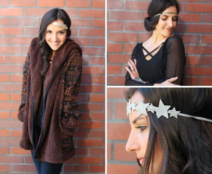 New Year STatement Headband | Easy DIY New Year's Eve Outfits That Add Glamour