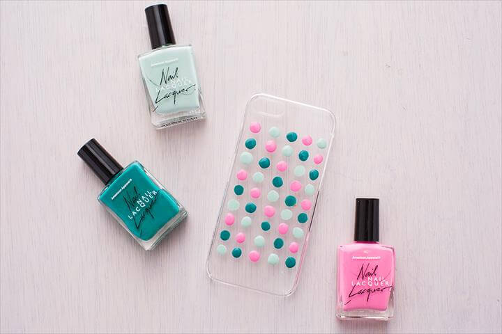 diy cell phone case nail polish