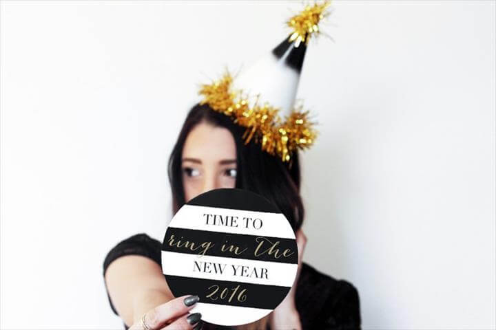 new years eve, diy party hats, DIY Glam NYE Party Hats