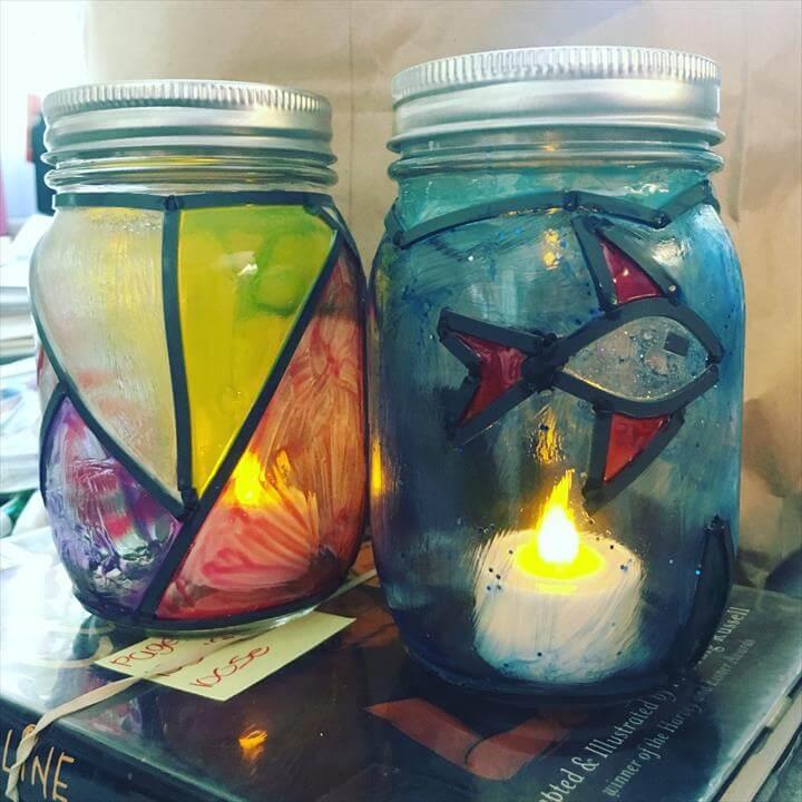 Teen Summer Crafts - Mosaic Mason Jars ...