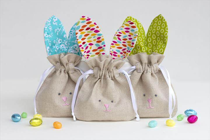 drawstring bunny bag