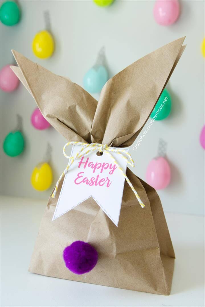 DIY Easter Bunny Gift Bag idea
