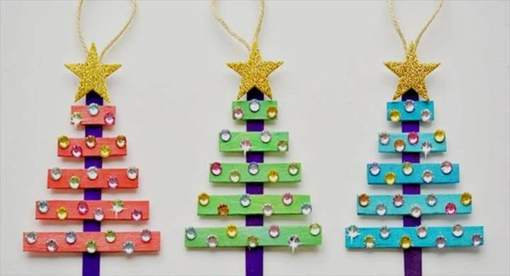 Popsicle Sticks Christmas Crafts