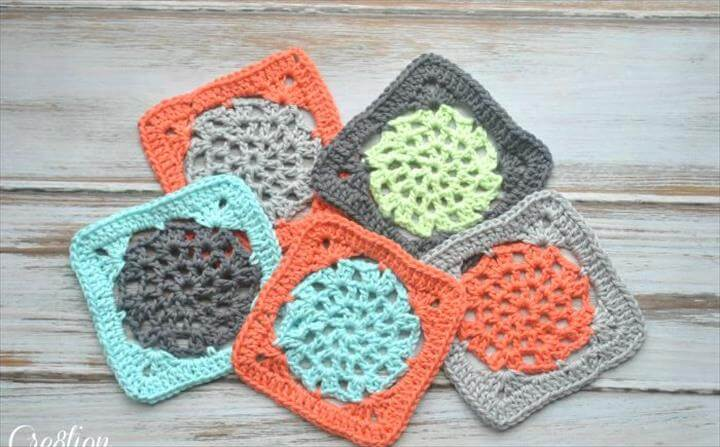 Easy Lace Square Crochet Pattern
