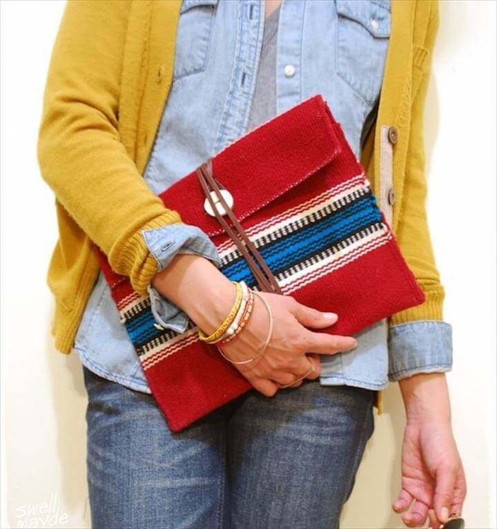 Ethnic Wrap Clutch, DIY Clutch Bags You Can Sew At Home