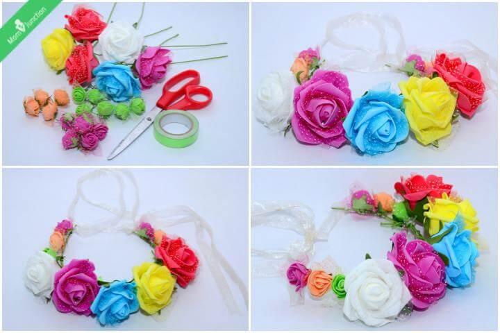 flower crown, hair crown, fashion