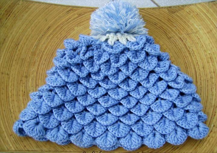 Free Crochet Baby Hat Patterns | Crochet hat for kids: crochet crocodile hat - Craft Ideas - Crafts for .