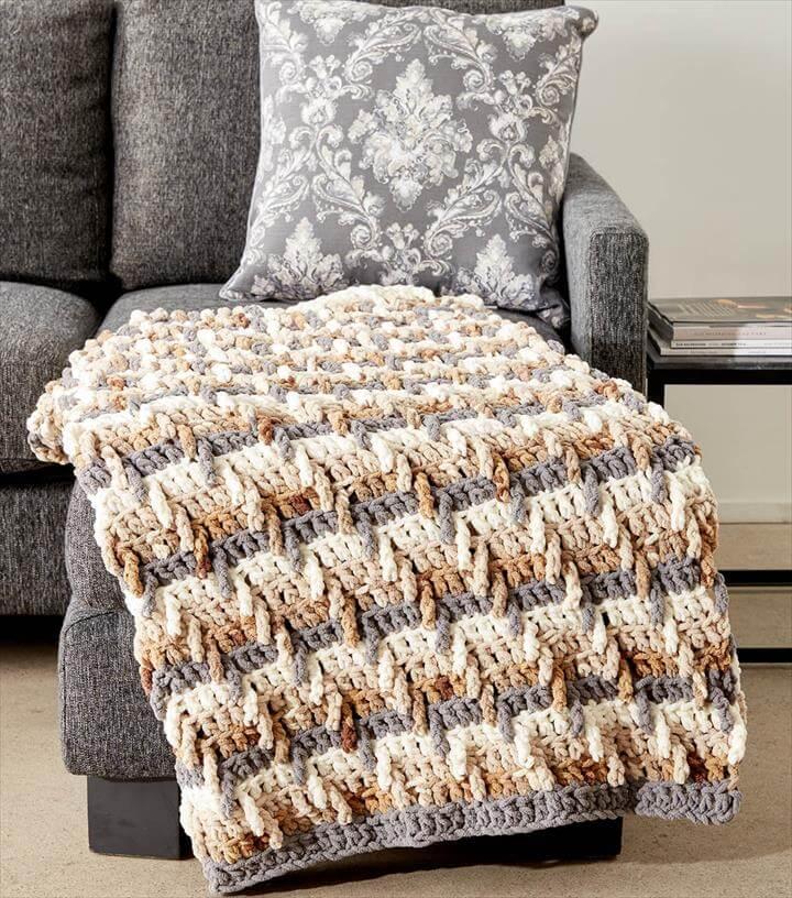 Step Ladder Crochet Blanket