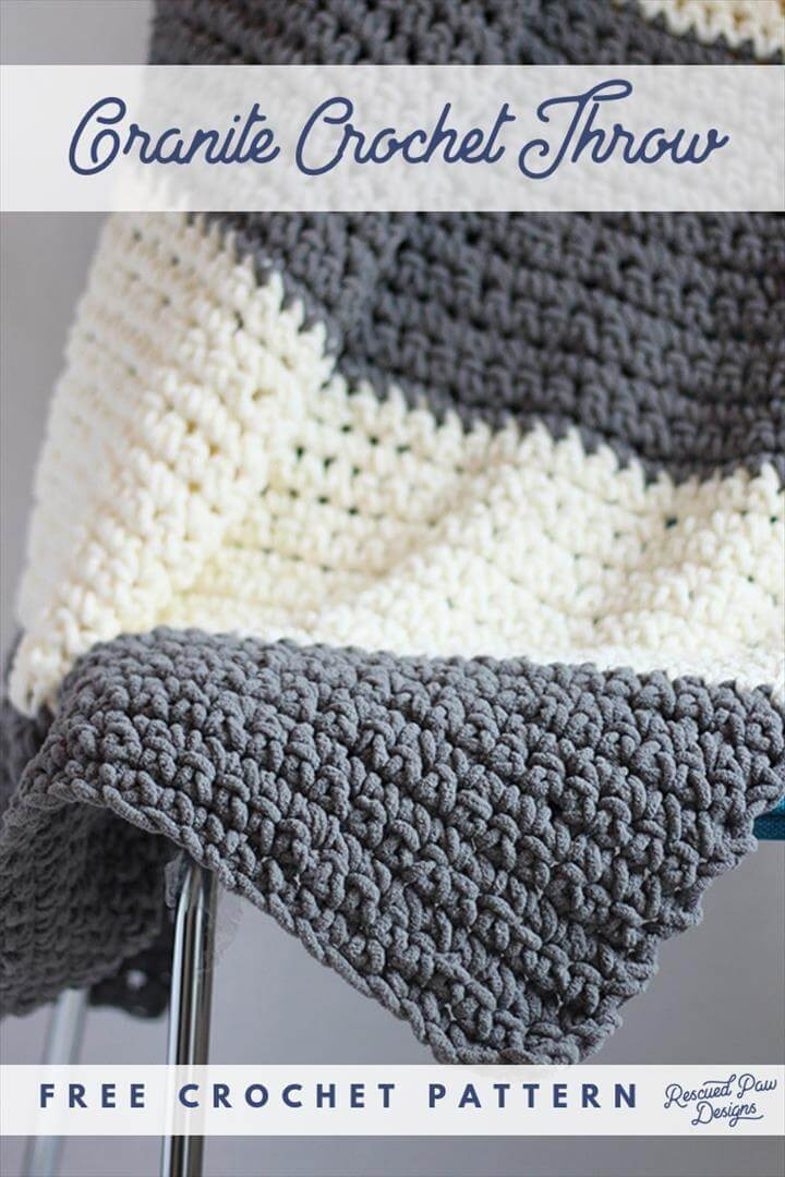 Granite Crochet Throw Blanket Pattern