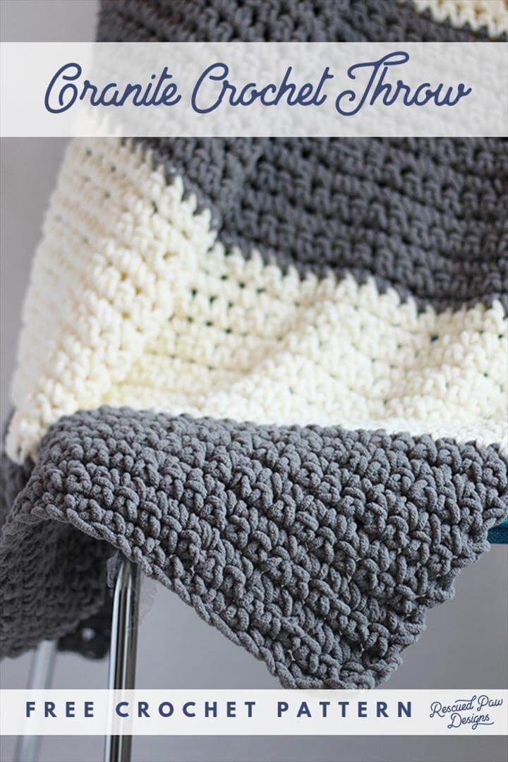 Granite Crochet Throw Blanket Pattern