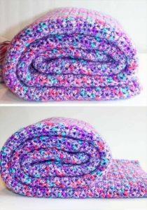 12 Crochet Blanket Free Pattern – Quick & Easy Ideas