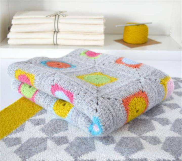 Luxury Granny Square Crochet Blanket Kit