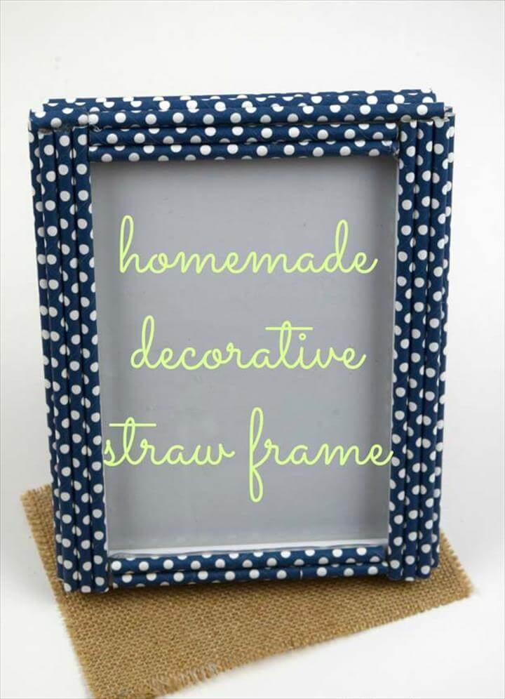 DIY Gifts for Teens - Homemade Decorative Straw Frame - Cool Ideas for Girls and Boys