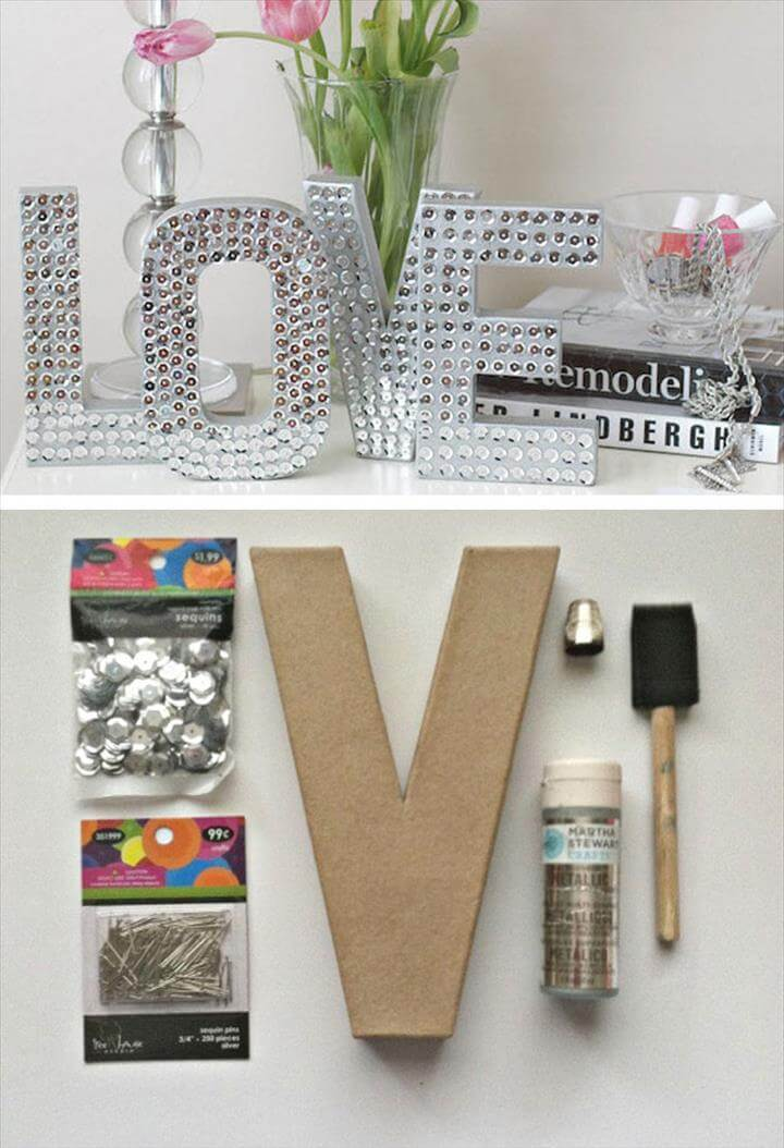 Valentines day shadow box heart - DIY home decor easy valentine decoration with free love cut