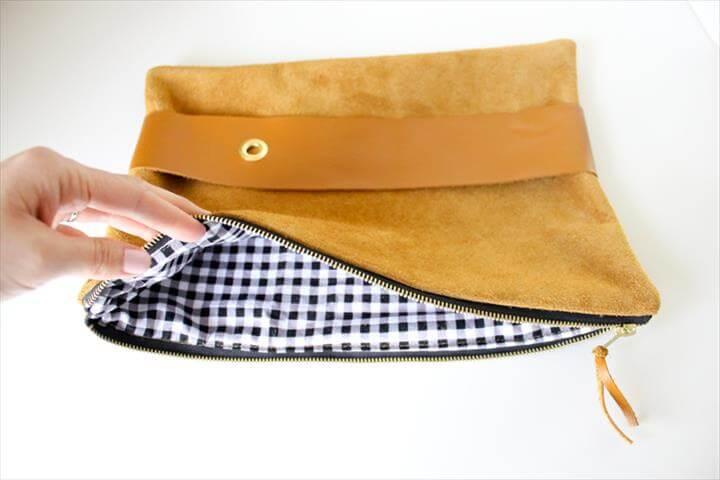 DIY Leather Strap Clutch Tutorial