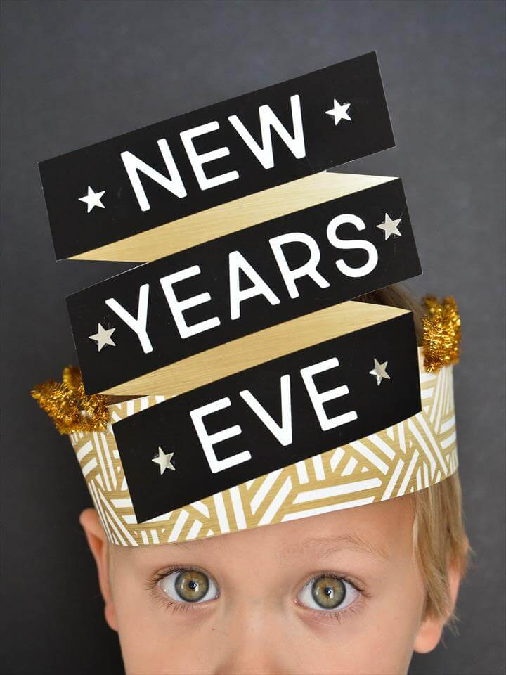 DIY New Year's Eve Hats