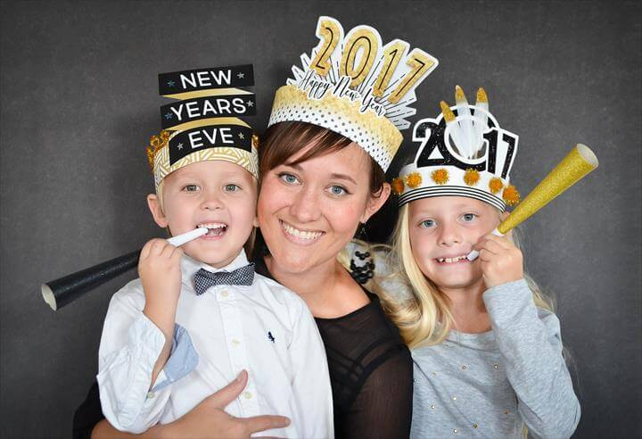 DIY New Year's Eve Hats for the Whole Family