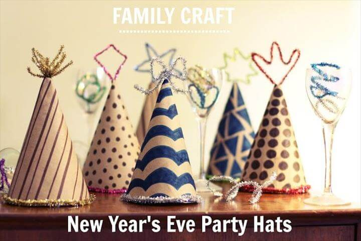 New Year's Eve Party Hats {Family Craft}