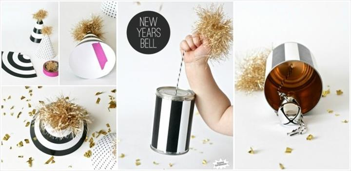 Free Printable New Year's Eve Party Hats & DIY Bell Tutorial