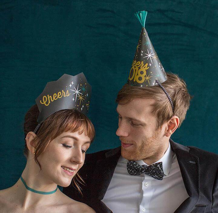 Easy DIY Printable New Year's Party Hats