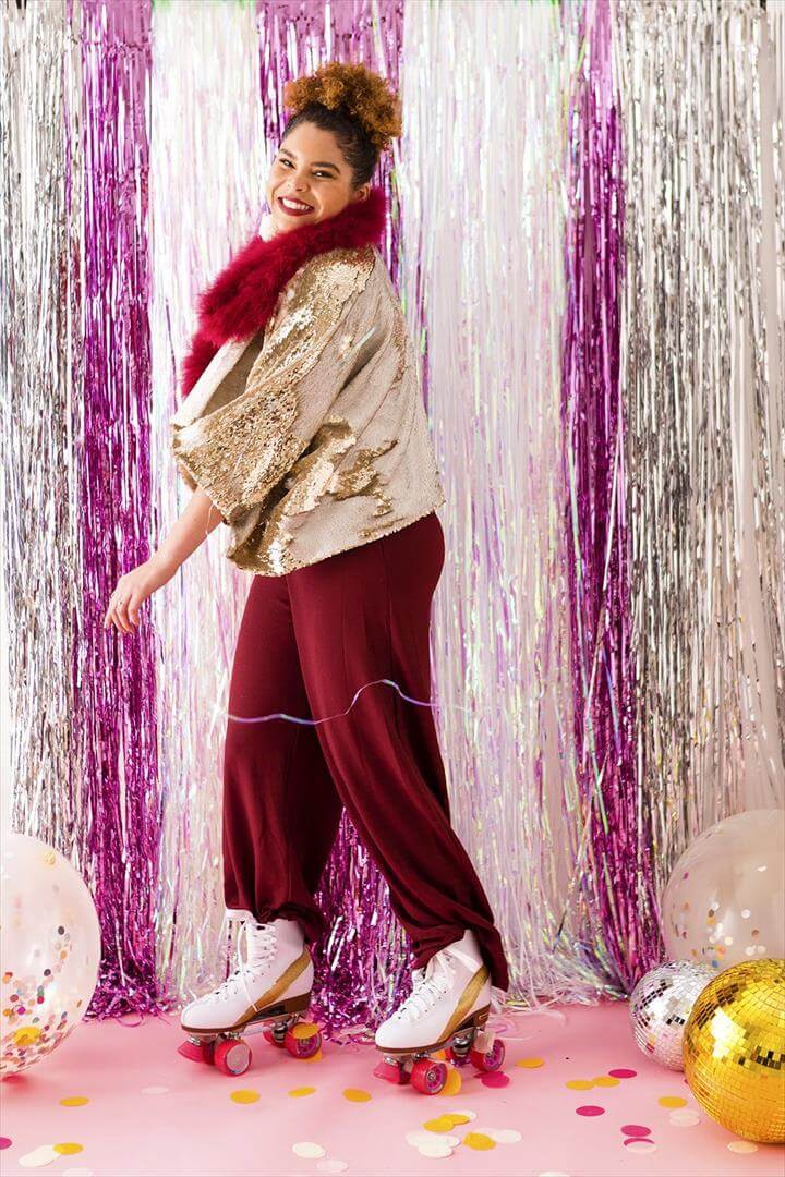 This DIY Disco Ball Kimono Will Complete Your NYE Outfit