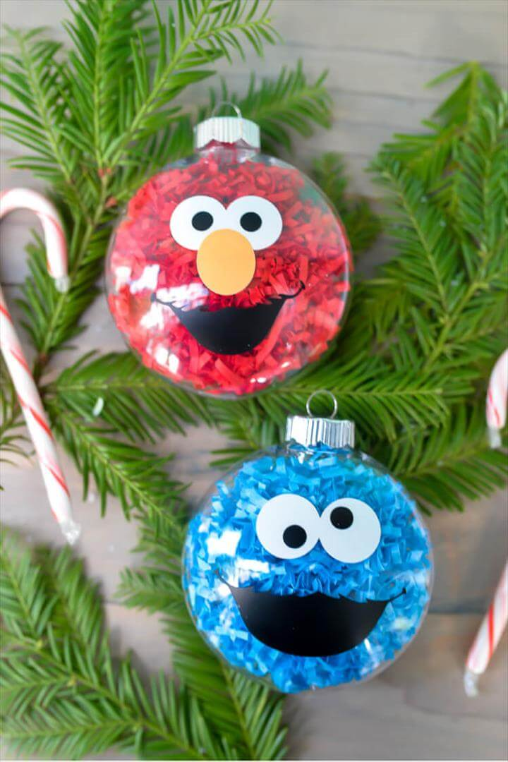 DIY Sesame Street Ornaments, If your kids love Sesame Street, make these DIY Sesame Street Ornaments! They are