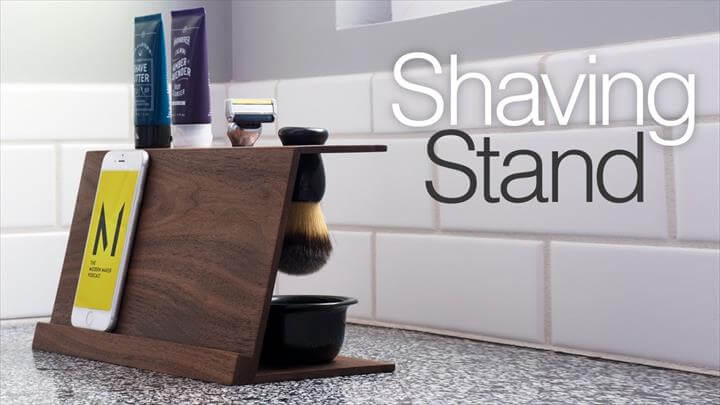 Simple DIY Shaving Stand, Easy Woodworking Projects