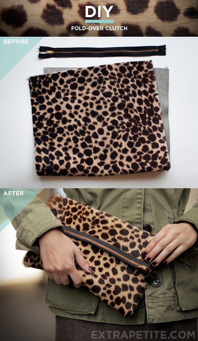 Simplified DIY clutch bag tutorial