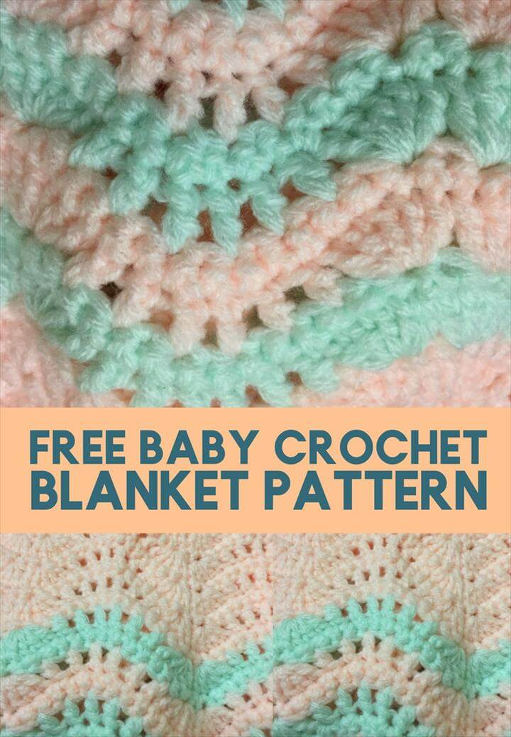 The Quick and Easy Free Baby Crochet Blanket Pattern baby pattern