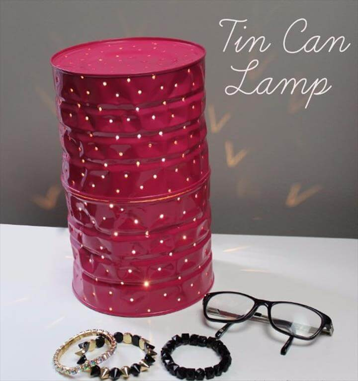 Tin Can Lamp - DIY Projects for Teens