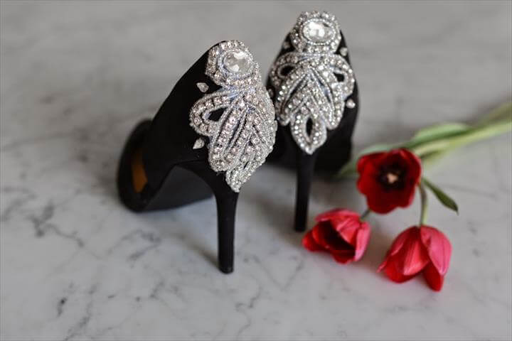diy embellished pumps, Diy Wedding Shoes, Wedding Heels, Diy Shoe, Shoe Crafts, Diy Crafts, Shoe Makeover, Shoe Refashion, Embellished Heels, Beaded Lace,Shoe Refashion, Embellished Heels, Shoe Crafts, Diy Crafts, Your Shoes, Fashion Shoes, Diy Fashion, Fashion Outfits, Diy Shoe,Steampunk Shoes, Diy Fashion Accessories, Lacer, Diy Clothes, Shoes Sandals, Shoe Boots, Nightlife, Refashion, Embellishments,Diy Fashion, Fashion Outfits, Holiday Looks, Dress To Impress, Pairs, Shoes Heels, Fashion Accessories, Closet, Boots,