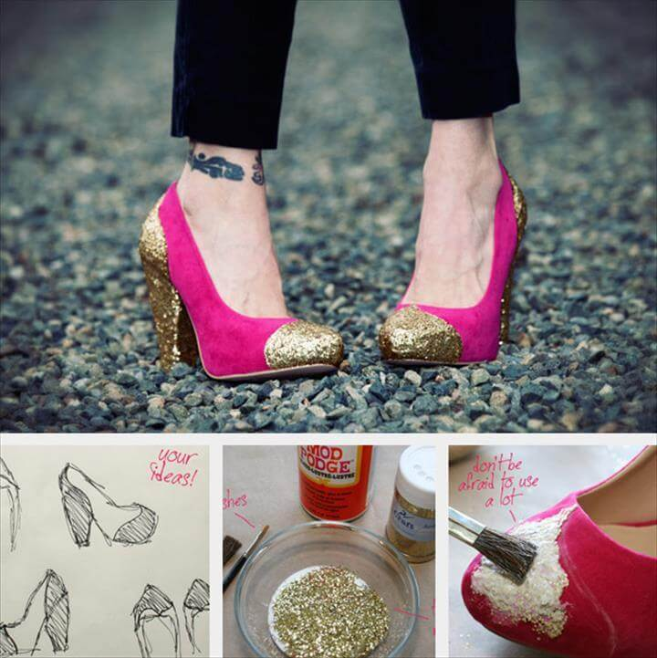 Fashion Ideas, Colorful Fashion, Colorful Shoes, Paracord, Designer Shoes, Painted Shoes,, Fashion Project Loafers & Slip Ons, Cool Stuff, Diy Crafts, Shoes Sandals, Wish, Old Stuff, Cool Crafts, Espadrilles, Upcycled Clothing, Paint, Presents,After Prom, Glitter Shoes, Fall Halloween, Halloween Party, Halloween Costumes, Halloween Ideas, Love Craft, Wizard Of Oz, Big Top, Bling Shoes, Halloween Parties, Halloween Outfits,Shoe Refashion, Glitter Shoes, Gold Glitter, Hacks, Clear Glue, Diy Fashion, Custom Shoes, Diy Projects To Try, Diy Clothes, Cool Stuff, Creativity, Shoes, Create, Over Knee Socks, Manualidades, Fashion, Outfit, Shoe, Bricolage, Custom Tennis Shoes,