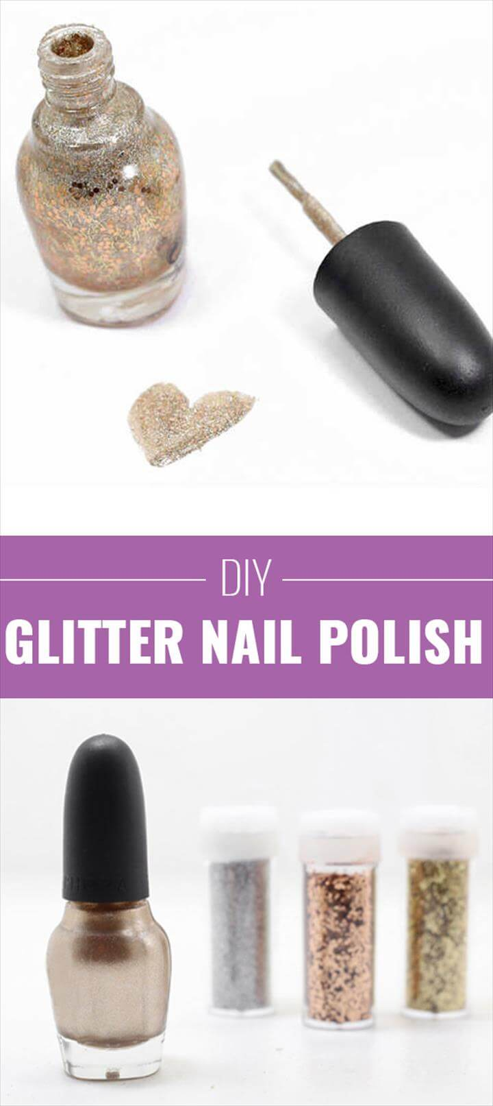 Cool DIY Crafts Made With Glitter - Sparkly, Creative Projects and Ideas for the Bedroom, Diy Nails, Nail Art Diy, Beauty Nails, Diy Beauty, Beauty Tricks, Beauty Secrets, Polish Nails, Gold Glitter Nail Polish, Sparkly Nails, Diy Nail Polish, Glitter Nail Polish, Diy Nail Designs, Birthday Crafts, Love Nails, Pretty Nails, Crafty Projects, Girly Stuff, Kid Stuff, #glitter #glitternails #beauty #diy #diynaildesigns #diynails #nailart #nails #nailpolish #nailstagram #naildesigns #nailartdesigns #fashion #fashiontrends #fashionable #trendy #trendsetter #affordable #affordablefashion #newyearseve #newyears #newyearsnails #colorstreet #colorstreetnails #beautynails #beautytips #beautyhacks #beautysecrets #manicure #pedicure #manicureideas, Imbre Nails Snow Nails Gray Nails Black Ombre Nails Cute Gel Nails Shiny Nails Nails 2016 Nice Nails Nail Polishes