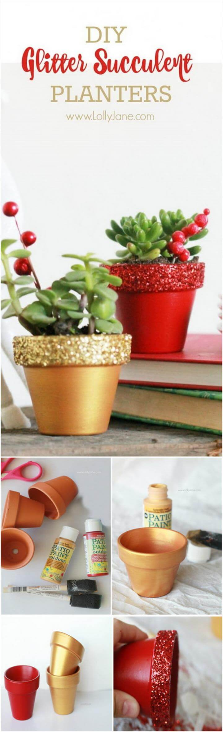 DIY Glitter Succulent PlantersHandmade Christmas Gifts, Holiday Decor, Gold Christmas Decorations, Christmas Holidays, Christmas Crafts, Christmas Favors, Christmas Home, Fall Decor, Merry Christmas,Glitter Top, Handmade Christmas Gifts, Painted Pots, Succulent Planters, Succulents, Diy Gifts, Great Gifts, Bliss, Christmas Decorations,