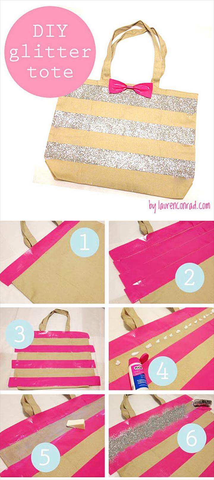 Glitter Projects, Glitter Crafts, Glitter Party, Diy Bags, Diy Gifts, Handmade Gifts, Diy Fashion,, Fun Crafts, Tape Crafts, Cool DIY Crafts Made With Glitter - Sparkly, Creative Projects and Ideas for the Bedroom
