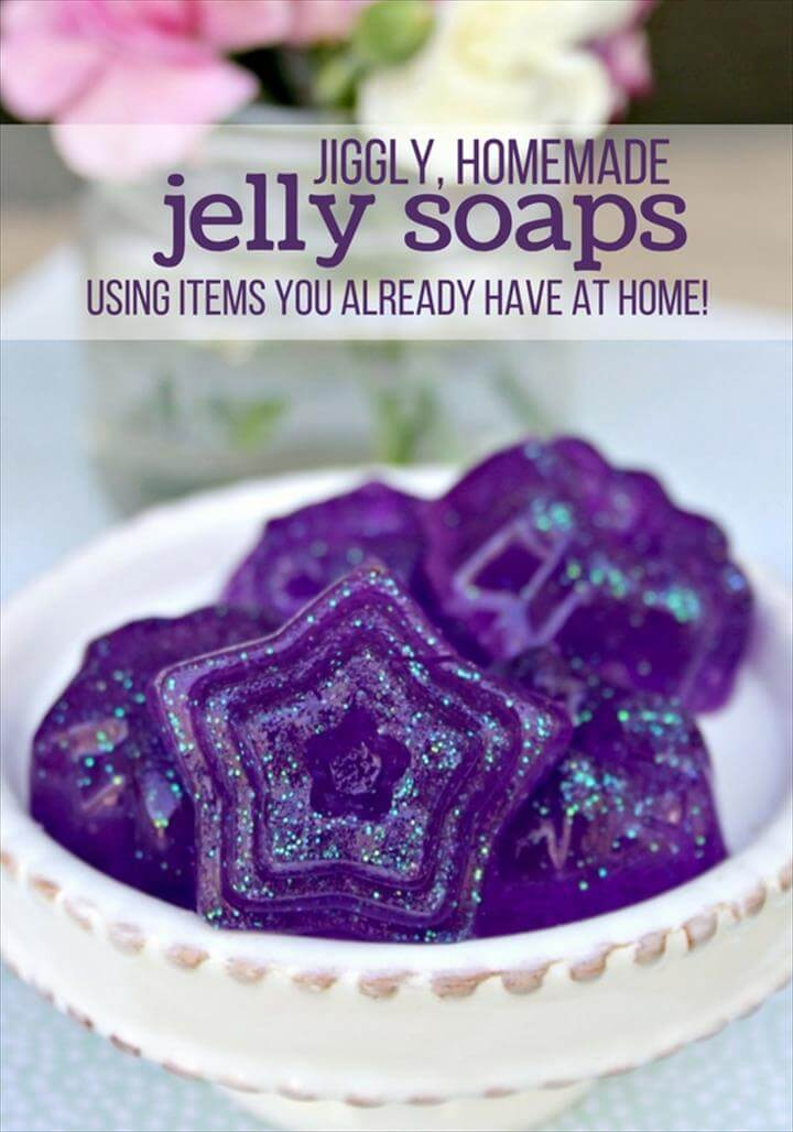 A fun homemade soap recipe kids will love to make and play with - jelly soap